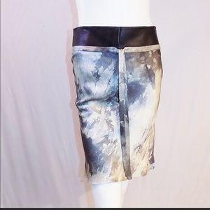 Vintage Dior silk skirt w leather
